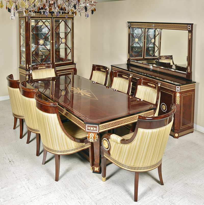 New Style Empire Dining Room Furniture Set With Swarovsky Crystals
