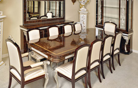 French Empire Dining Room Furniture Gold Silver
