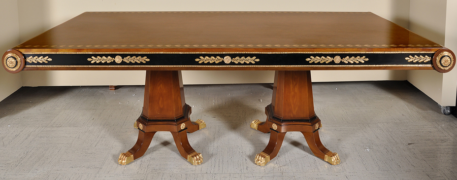 European Empire Style Rectangular Table Chairs