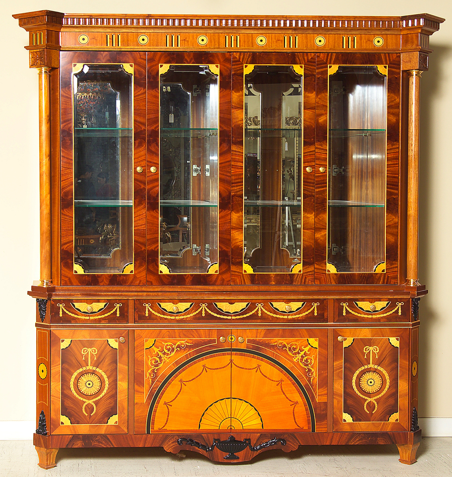 Traditional Italian Style Dinning Room Furniture Cherry
